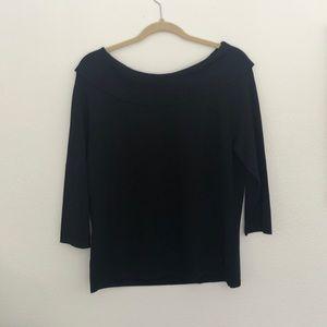 Black boatneck sweater